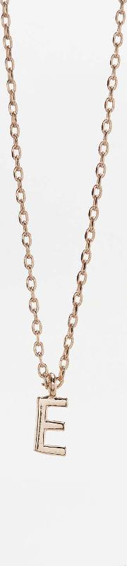 Urban Outfitters , Delicate Initial Necklace, Dark Grey