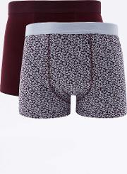 Urban Outfitters , Floral Print Boxer Trunks Pack, Assorted