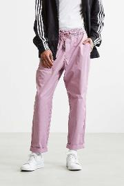 Urban Outfitters , Uo Parker Elastic Waist Rose Trousers, Pink