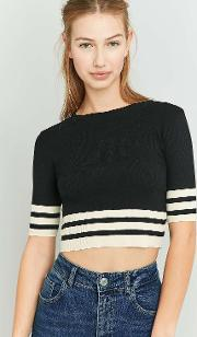 Cooperative By Urban Outfitters , Urban Outfitters Striped Hem Crop Top