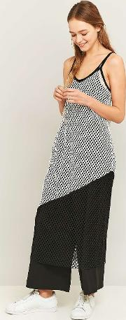 Light Before Dark , Colour Block Fishnet Midi Slip Dress, Assorted