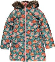 Puffa , Fur Hood Jacket Junior Girls