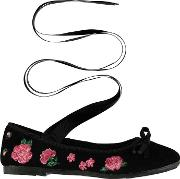 Rock And Rags , Tie Front Ballerina Shoes
