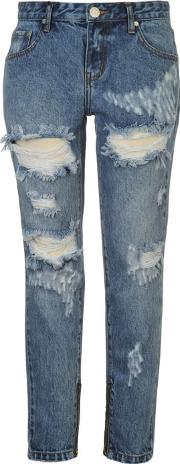 Glamorous , Ripped Mom Womens Jeans