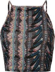 Rock And Rags , Feather Print Crop Top