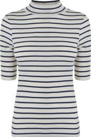 French Connection , Stripe High Neck Top