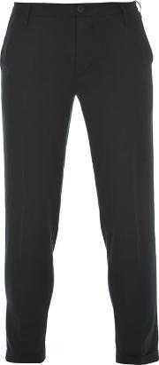 Dkny , Cropped Turn Up Trousers