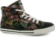 British Knights , Dee Mid Hi Top Canvas Shoe Ladies