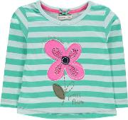 Crafted , Big Flower Tee Shirt Childrens