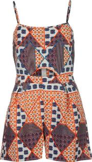 Rock And Rags , Printed Playsuit