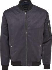 Only And Sons , Faux Suede Bomber Jacket