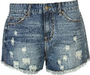 Rock And Rags , Denim Cut Off Shorts