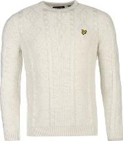 Lyle And Scott , Crew Cable Knitted Jumper