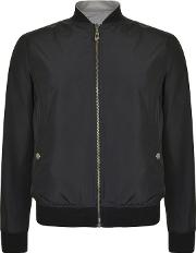 Versace Collection , Reversible Reflective Bomber Jacket