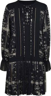 Just Cavalli , Lace Long Sleeved Dress