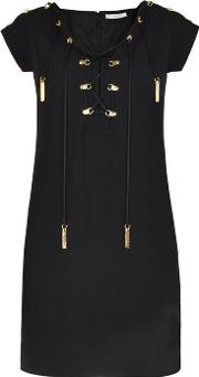Versace Collection , Lace Up Dress