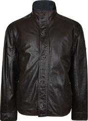 Trapper , Padded Leather Jacket