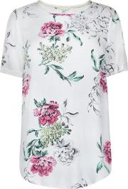 Joules , Floral Short Sleeved Top