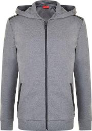 Hugo By Hugo Boss , Dellagio Biker Hooded Zip Sweatshirt