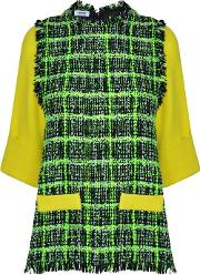 Moschino Cheap And Chic , Neon Boucle Top