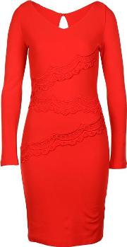 Body Frock , Scallop Panel Bodycon Dress