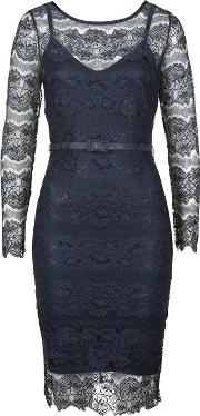 Body Frock , Long Sleeve Lace Dress