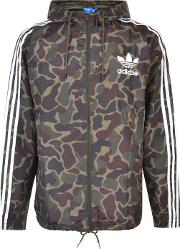 Adidas Originals , Camouflage Windbreaker Jacket