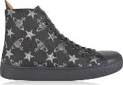 Jacquard High Top Trainers
