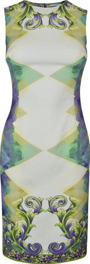 Versace Collection , Printed Sleeveless Dress