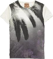 Pearly King , Palm Print Crew Neck T Shirt