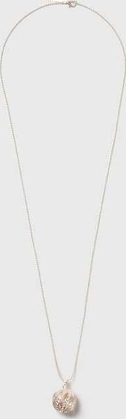 Wallis , Rose Gold Crystal Twist Ball Necklace