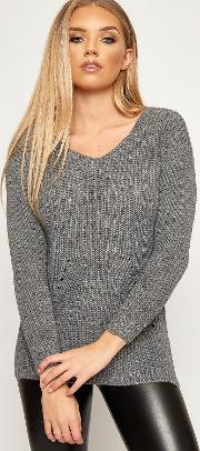 Stephanie Ripped Distressed Back Knitted Jumper