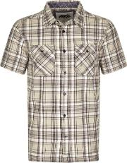Weird Fish , Paiman Cotton Short Sleeve Check Shirt Grey Size S