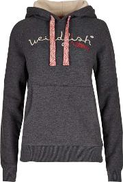 Weird Fish , Twilight Branded Graphic Hoody Charcoal