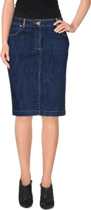 Alviero Martini 1a Classe , Denim Denim Skirts Women