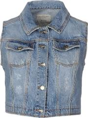 Pinko Tag , Denim Denim Outerwear