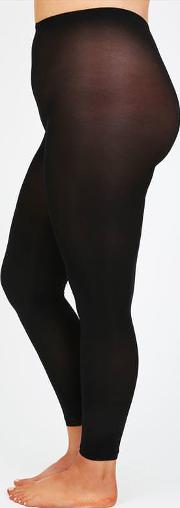 Yours Clothing , Black 80 Denier Footless Tights