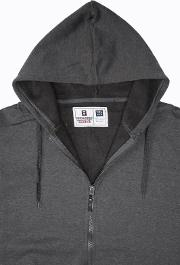 Yours Clothing , Rockford Grey Zip Through Hoodie